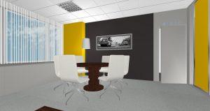Kancelář Praha Václavské náměstí - 3D návrh