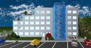 Kancelářská budova Kladno Milady Horákové - 3D návrh
