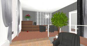 Kancelář pohřební služby Mladá Boleslav Laurinova - 3D návrh