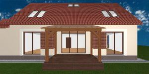 RD Velká Dobrá Sluneční - 3D návrh