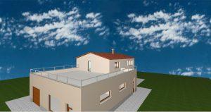 RD Velké Přítočno U Dráhy - 3D návrh III