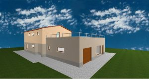 RD Velké Přítočno U Dráhy - 3D návrh I
