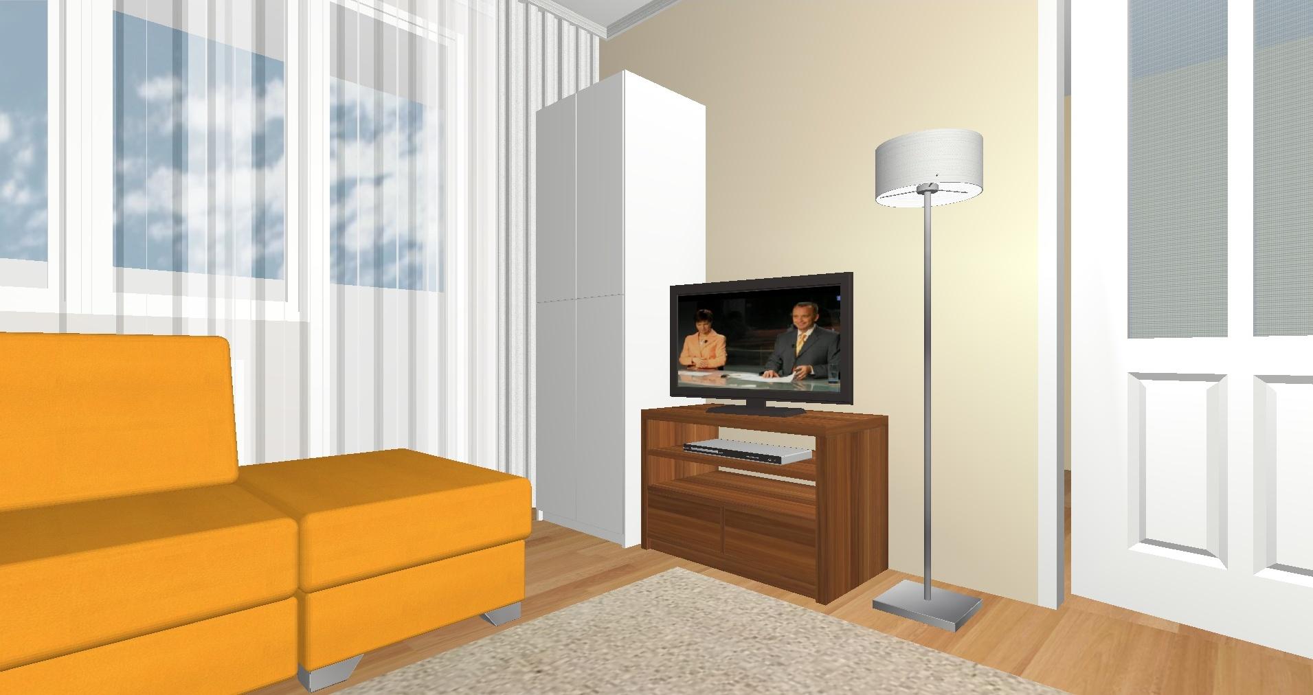 Byt Kladno Bulharská - 3D návrh