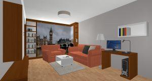 Byt Kladno Estonská - 3D návrh