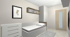 Byt Praha Banskobystrická - 3D návrh