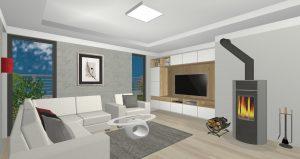Rodinný dům Brandýsek Pod Studánkou – 3D návrh