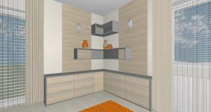 RD Buštěhrad Topolová - 3D návrh 1NP
